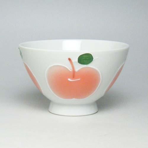 ご飯茶碗 飯碗 有田焼 高台りんご 茶碗 小