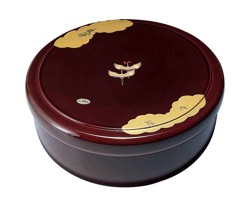 茶櫃 漆塗 茶びつ 10.5 溜 金雲昇鶴