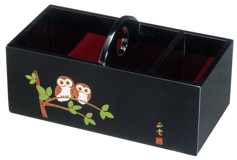 リモコンホルダー リモコンラック 国産品 記念品 引出物 木製 リモコンラック 黒 ふくろう