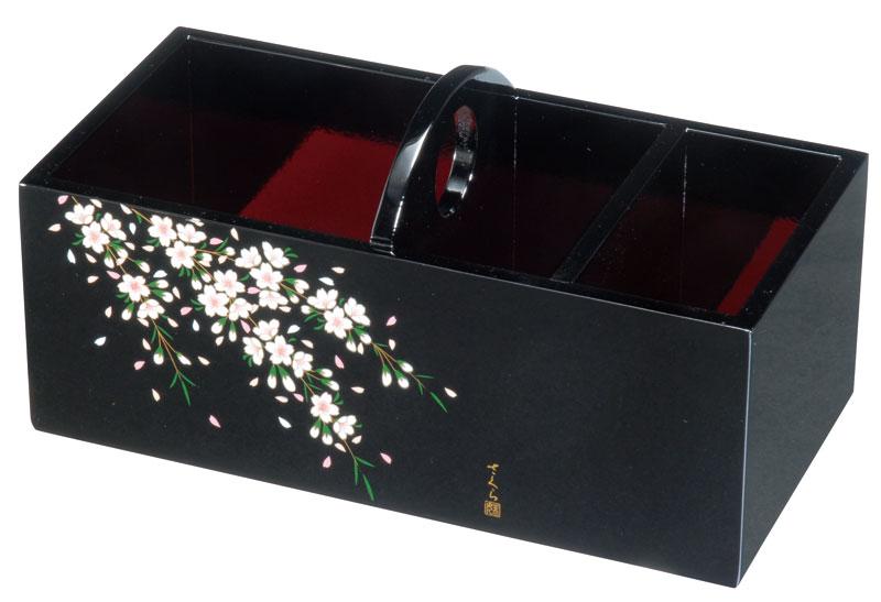 リモコンホルダー リモコンラック 国産品 記念品 引出物 木製 リモコンラック 黒 さくら桜