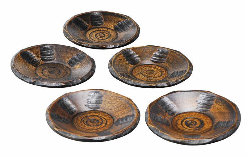 茶たく 茶卓 茶器 漆器 木製 はつり 茶托揃 国産品