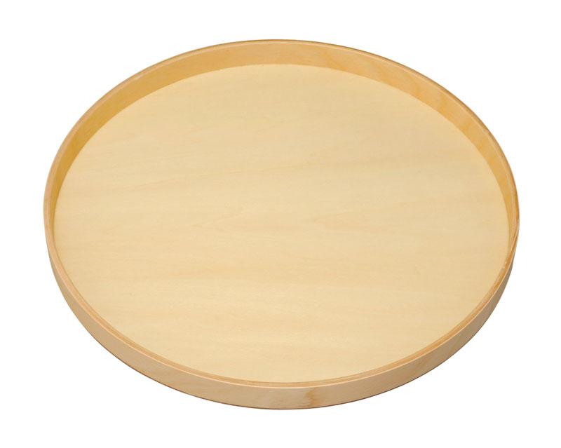 お盆 トレー 記念品 引出物 10.0 丸盆 白木 木製 23-10-12B