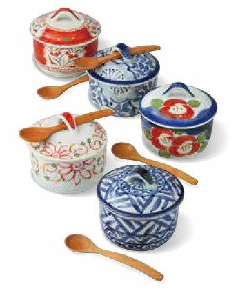 茶碗蒸し スープカップ 有田焼 彩絵変り バラエティーセット(saiky-k88-56970)