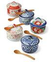 茶碗蒸し スープカップ 有田焼 彩絵変り バラエティーセット saiky-At162-56970 | 陶磁器 スープ皿 おしゃれ 椀 お椀 おわん 蓋付き 蓋…