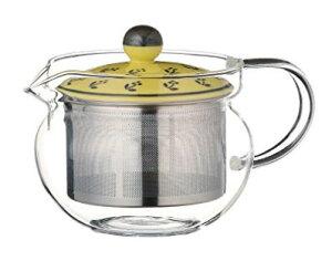 スーパーステンレス茶こし 急須 波佐見焼 クレスポ(Y) SSポット (ガラス) 約375ml 210g As115-73587耐熱ガラス おしゃれ 日本製 ギフト 贈り物 贈答品