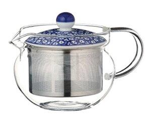 スーパーステンレス茶こし 急須 波佐見焼 ブルーミルク SSポット (ガラス) 約375ml 210g As115-73588耐熱ガラス おしゃれ 日本製 ギフト 贈り物 贈答品