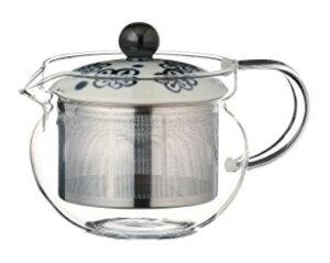 スーパーステンレス茶こし 急須 波佐見焼 梅ちらし SSポット (ガラス) 約375ml 210g As115-73604耐熱ガラス おしゃれ 日本製 ギフト 贈り物 贈答品