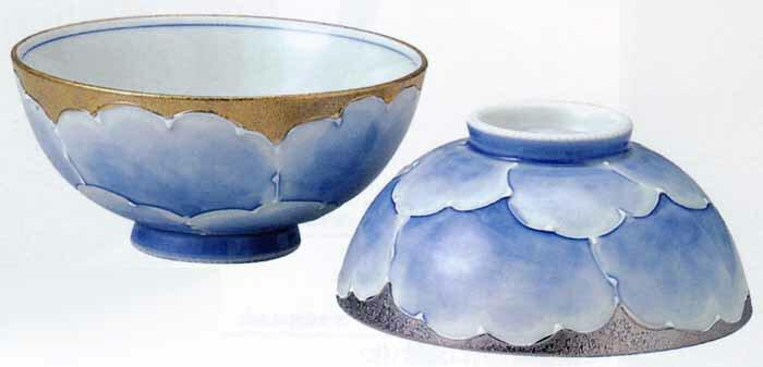 波佐見焼 プラチナ牡丹 組飯碗(saiky-k80-10857)