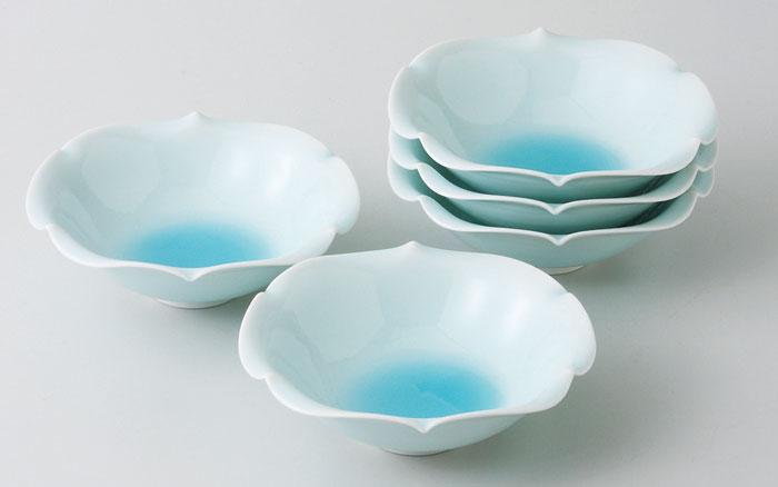 波佐見焼 青磁 小鉢揃 (saiky-k77-11441)小鉢 中鉢