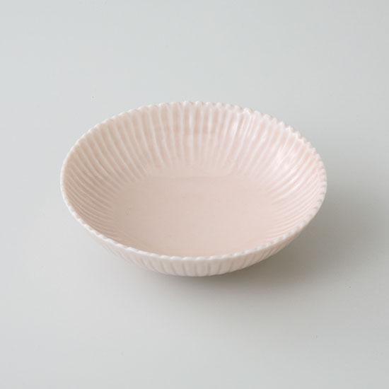 中鉢 小鉢 和皿 波佐見焼 菊花 取皿(桃釉)(saiky-j46-11589)