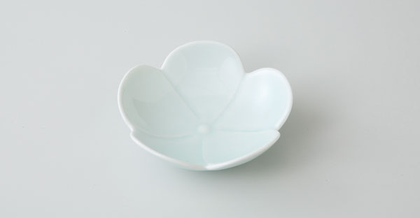 和皿 中皿 波佐見焼 プルメリア 一輪 小皿(青磁)(saiky-j46-11581)