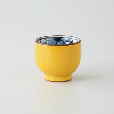 杯 ぐい呑 酒器 波佐見焼 黄交趾 盃 (saiky-j39-21948)