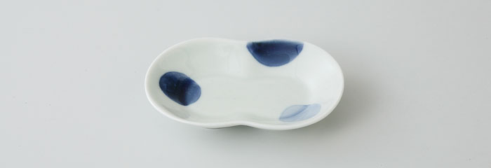 小皿 楕円皿 取皿 有田焼 陶器 波佐見焼 二色丸紋 丸かさね皿(saiky-c18-71883)