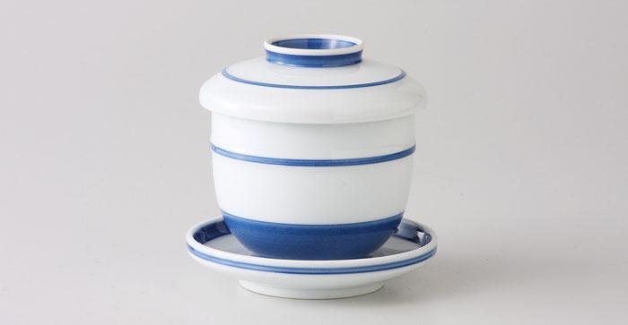 波佐見焼 夢路 台付むし碗(saiky-j44-99279)茶わん蒸し 茶碗蒸し