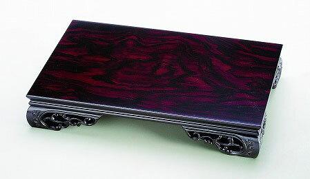 花瓶 台 飾り台 床の間 黒丹調 16.0 すかし 花台(48×32×8.5cm) 19-27-1