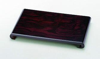 花瓶 台 飾り台 黒丹調 10.0 クリ花台 (30×19×3.8cm) 19-27-8