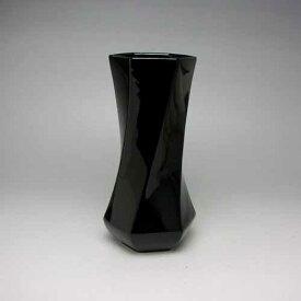 花瓶 フラワーベース 黒 ブラック モダン花瓶 花器 フラワーベース(黒)18cm