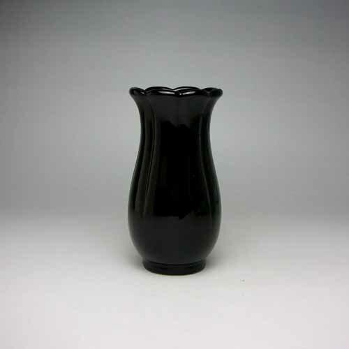 花瓶 花器 フラワーベース(黒)14cm