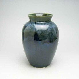 花瓶 花器 フラワーベース 陶器 おしゃれ花瓶 花器 フラワーベース 陶器 おしゃれ花器 花入 フラワーベース 竹泉 夏目型花瓶 黒流し 5号