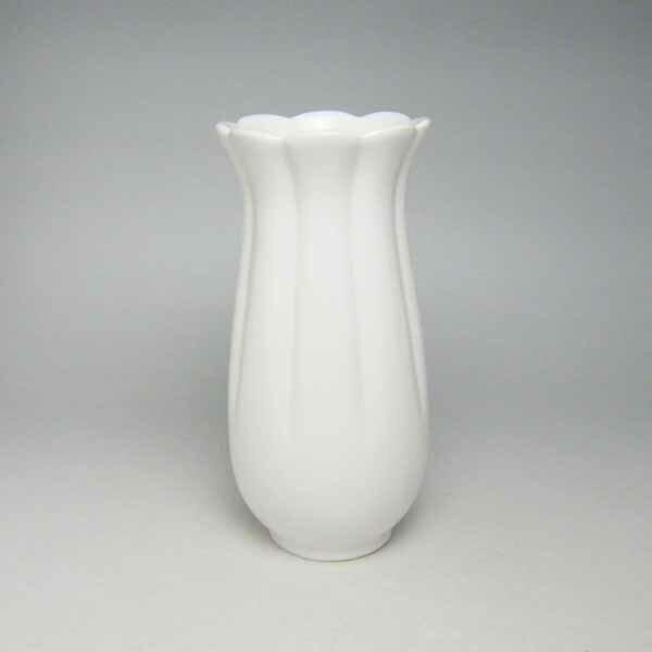 花瓶 花器 フラワーベース(白)18cm