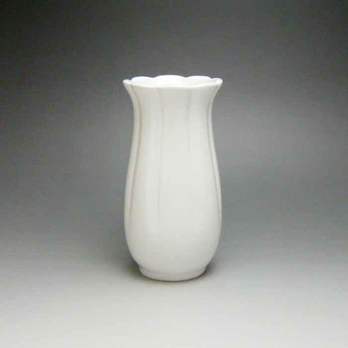 花瓶 白 陶器 一輪挿し 花器 フラワーベース (白)14cm