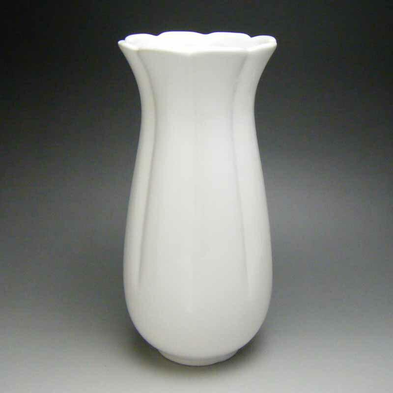 花瓶 花器 フラワーベース(白)23.5cm