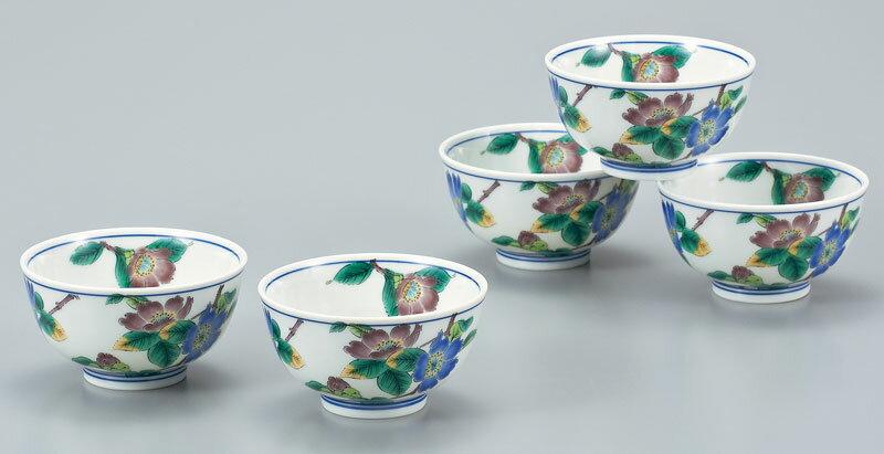 茶器セット 九谷焼 汲出揃 山茶花 ap4-0539