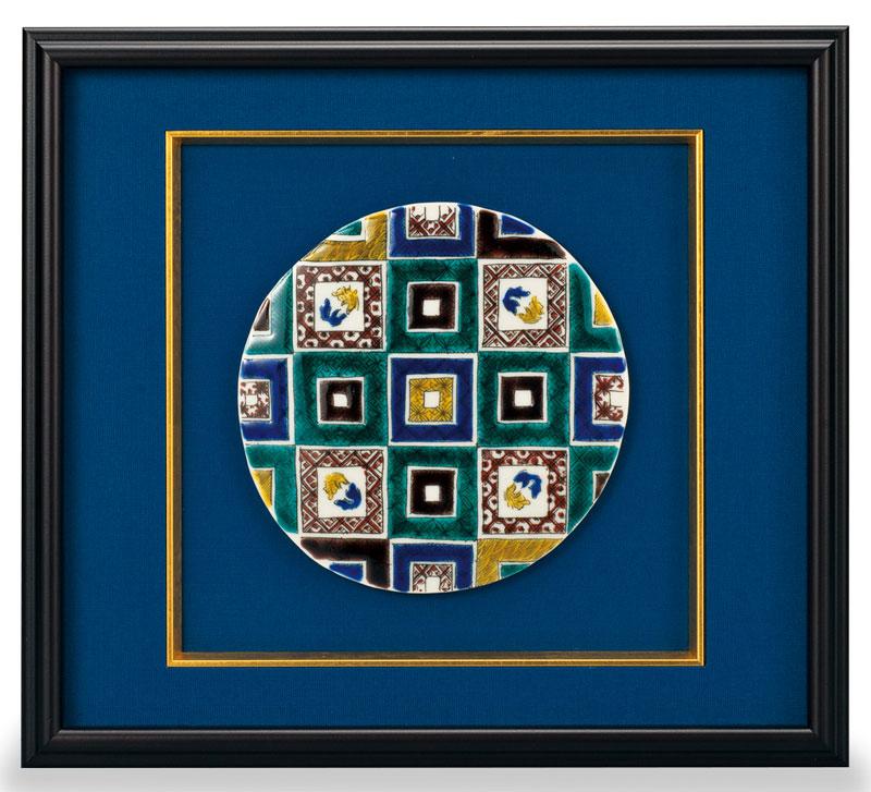 パネル 九谷焼 陶額 石畳の図 ap4-1205