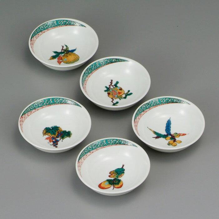 小皿 中皿 中鉢 九谷焼 3号 小鉢揃 果実文 ap4-0301