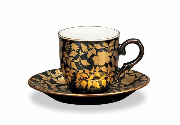 コーヒーカップ 珈琲碗皿 九谷焼 コーヒー碗皿 金襴手 ap4-0940