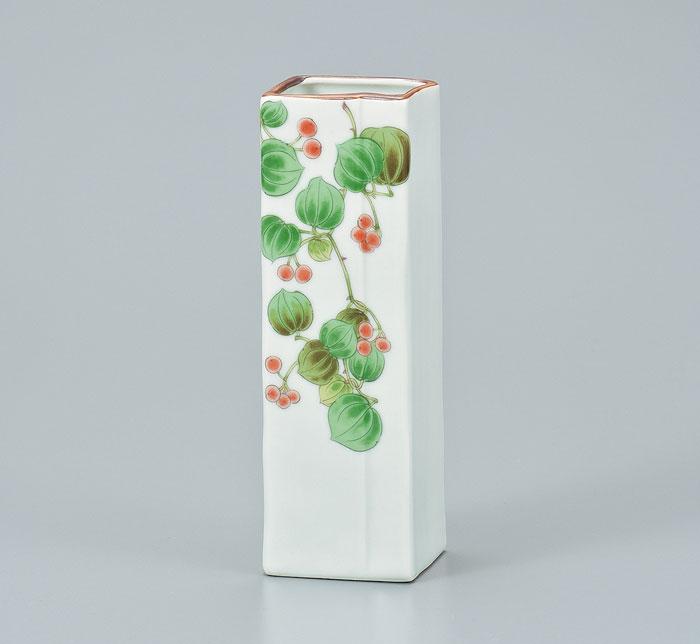 一輪挿し 花瓶 花入 花器 九谷焼 6号 一輪生 山帰来 ap4-1001