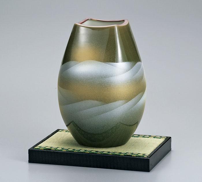 花器 花入 フラワーベース 九谷焼 8号 花瓶 連山 ap4-1033