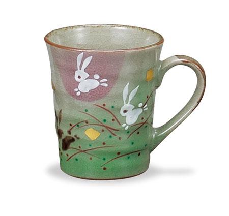 コーヒーカップ 九谷焼 マグカップ うさぎ ap4-0854