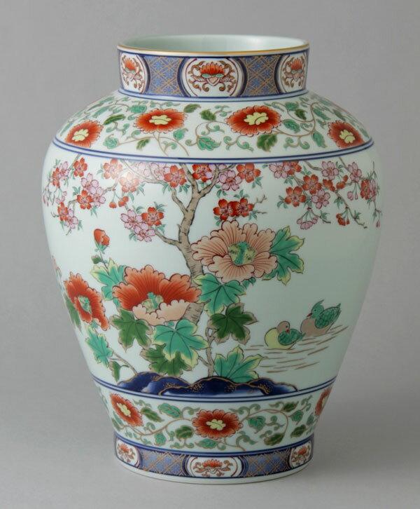 有田焼 9寸壷型花瓶 芙蓉桜 Y234-W
