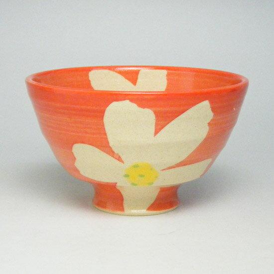 ご飯茶碗 お茶碗 飯碗 陶器超軽量のうつわ有田焼 花すがた軽々飯碗(赤)茶碗
