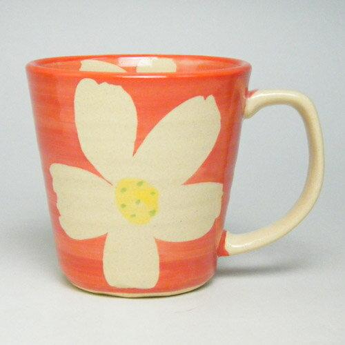 超軽量のうつわ有田焼 花すがた軽々マグカップ(赤)