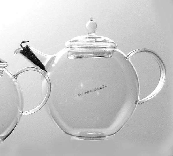 硝子工房クラフトユー 紅茶ポット 1000ml 4~5人用 QPW-10 耐熱ガラス ティーポットおしゃれ 日本製 ギフト 贈り物 贈答品