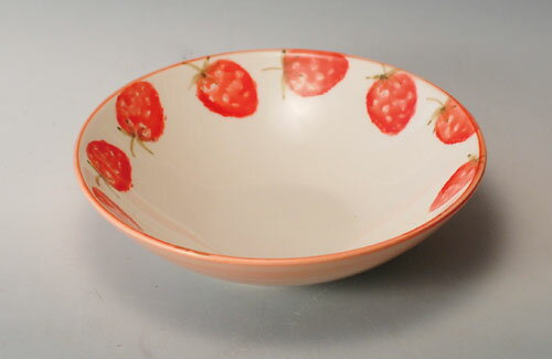 中鉢 ボウル サラダボウル とんすい トンスイ 呑水 いちご 平鉢