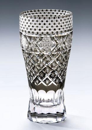 切子 ガラス ビールグラス モダン切子 ロングビアグラス メテオB ブラック ビールグラス