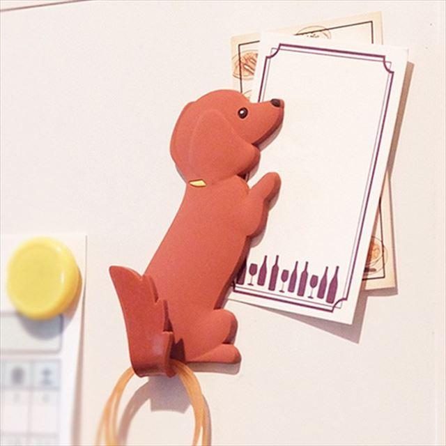 MAGNET HOOK Animal tail マグネットフック 『アニマルテイル ミニチュア・ダックスフンド』 【ゆうパケット送料無料!※宅配便を選択時は送料がかかります。(ご注文後にこちらで追加します。)】