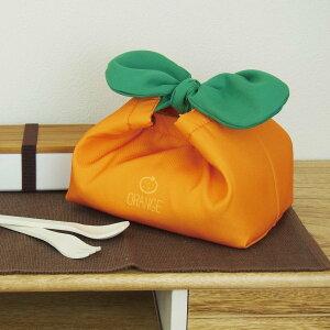 【保冷お弁当袋】 YAOYAランチつつみ オレンジ【 果物 フルーツ みかん オレンジ お弁当グッズ お弁当袋 お弁当包み お弁当入れ 保冷 アルミ 洗える かわいい 彩りランチ 】
