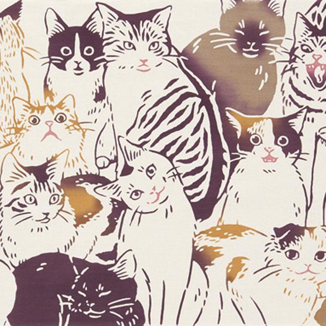 【注染手ぬぐい 生き物】 『猫づくし』 kenema 【ゆうパケット送料無料!※宅配便を選択時は送料がかかります。(ご注文後にこちらで追加します。)】
