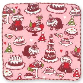 【タオルハンカチ】ムーミンハンカチーフ リトルミイ&ケーキ【ゆうパケット送料無料!※宅配便を選択時は送料がかかります。(ご注文後にこちらで追加します。)】【 日本製 レディース ハンドタオル ガーゼ MOOMIN グッズ クリスマス 北欧 ピンク 雑貨 かわいい 】