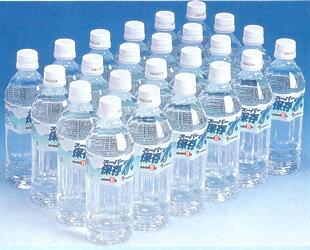 【送料無料】5年保存が可能なペットボトル入り保存飲料水【スーパー保存水 500ミリリットル1ケース[24本](防災グッズ 防災用品 帰宅困難者対策)】