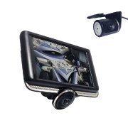 リアカメラ付き360度カメラ搭載4.5インチドライブレコーダー