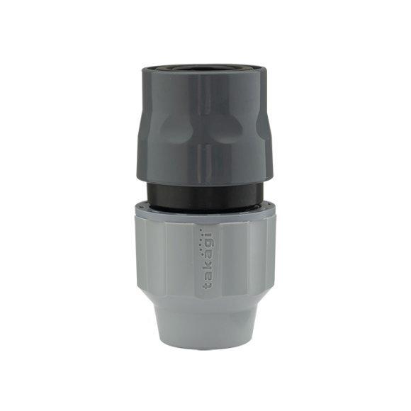 新製品!タカギ G1079GY ラクロックコネクター内径12〜15mmで外径21mmまで用(散水パーツ・ガーデニング・園芸・家庭菜園・水やり)