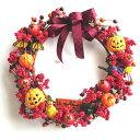 ハロウィンアレンジ リース 30cm (アレンジメント・飾り・ディスプレイ・店舗 室内装飾 vs0912
