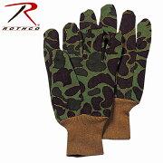 ロスコメンズグローブ手袋カモフラージュCamoJerseyWorkGlovesCottonFleece4414CAMOUFLAGEROTHCO