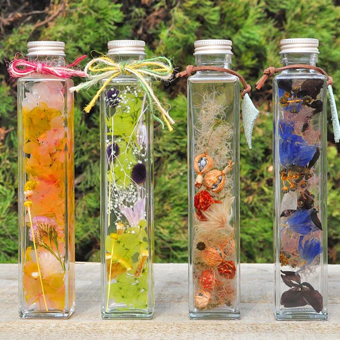 専門店のハーバリウム 角瓶Lサイズ4×4×21.5cm さいじょう緑花