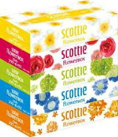 スコッティ ティシュー フラワー 160組×5箱